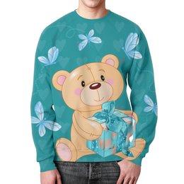 """Свитшот унисекс с полной запечаткой """"Любимый мишка"""" - медведь, подарок, милый мишка, любимый мишка"""