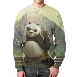 """Свитшот унисекс с полной запечаткой """"Кунг-фу панда"""" - панда, марком осборном"""