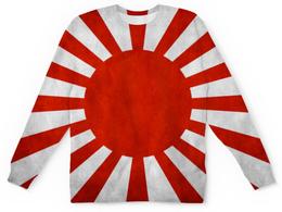 """Свитшот унисекс с полной запечаткой """"Япония (Japan)"""" - солнце, япония, japan, японский флаг"""
