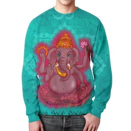 "Свитшот унисекс с полной запечаткой ""Ганеша"" - мандала, ганеша, буддизм, ганапати, веда"