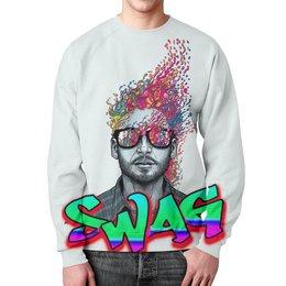 """Свитшот унисекс с полной запечаткой """"Swag Art"""" - красиво, swag, свэг, арт дизайн"""