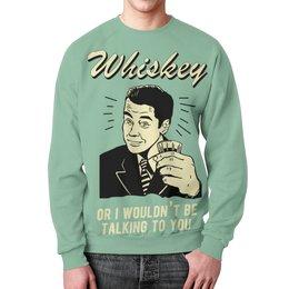 """Свитшот унисекс с полной запечаткой """"Виски"""" - алкоголь, виски, прикольные, whiskey, vintage"""