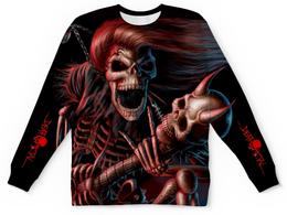 """Свитшот унисекс с полной запечаткой """"Death Metal (черная)"""" - музыка, metal, смерть, death metal, металл"""