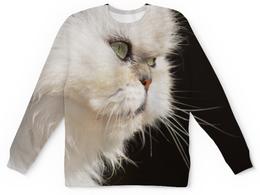"""Свитшот унисекс с полной запечаткой """"Персик"""" - кот, красиво, взгляд, перс"""