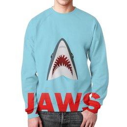 """Свитшот унисекс с полной запечаткой """"Акула"""" - пасть, зубы, акула, shark, selachii"""