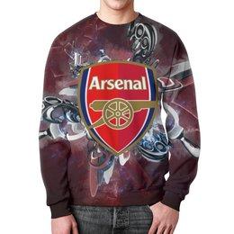 "Свитшот мужской с полной запечаткой ""Арсенал (Arsenal)"" - арсенал"