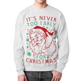 """Свитшот мужской с полной запечаткой """"Дед Мороз. Новый год"""" - новый год, рождество, дед мороз, санта клаус, новогодняя"""