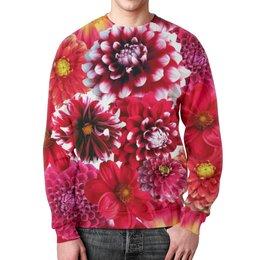 """Свитшот унисекс с полной запечаткой """"Цветочная фантазия"""" - цветы, с цветами"""