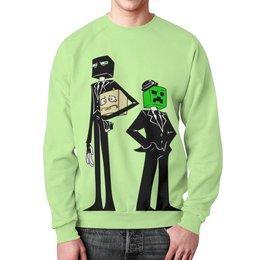 """Свитшот унисекс с полной запечаткой """"Крипер и Эндермен. Майнкрафт"""" - игры, minecraft, майнкрафт, геймерские, крипер и эндермен"""
