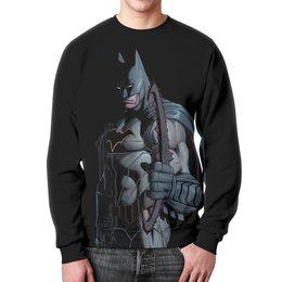 """Свитшот унисекс с полной запечаткой """"Бэтмен"""" - комиксы, batman, бэтмен, dc, dc comics"""