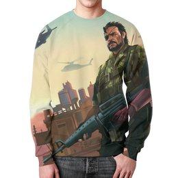 "Свитшот унисекс с полной запечаткой ""Big Boss (Metal Gear Solid)"" - metal gear solid, биг босс"