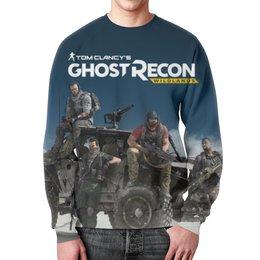"""Свитшот мужской с полной запечаткой """"Tom Clancys Ghost Recon Wildlands"""" - игры, для геймеров, ghost recon, tom clancys ghost recon wildlands, tom clancy"""