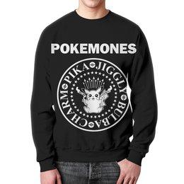 """Свитшот унисекс с полной запечаткой """"Покемоны"""" - прикольные, покемон, покемоны, ramones, pokemon go"""