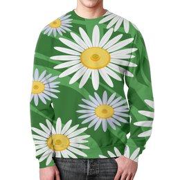 """Свитшот мужской с полной запечаткой """"Ромашки"""" - цветы, весна, природа, ромашки"""