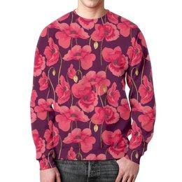 """Свитшот мужской с полной запечаткой """"Цветы"""" - цветы, 8 марта, весна, растения"""