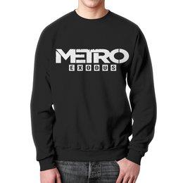 """Свитшот унисекс с полной запечаткой """"Metro"""" - игры, метро, metro, metro exodus, метро исход"""