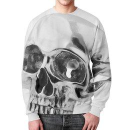"""Свитшот мужской с полной запечаткой """"Skull - 24"""" - skull, череп, арт, metal, день рождения"""