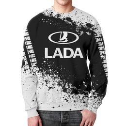 """Свитшот мужской с полной запечаткой """"Авто Lada"""" - авто, автомобили, машины, лада, lada"""