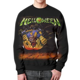 "Свитшот унисекс с полной запечаткой ""Helloween ( rock band )"" - heavy metal, helloween, рок музыка, хэви метал, rock music"