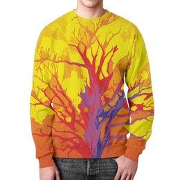 """Свитшот мужской с полной запечаткой """"Дерево"""" - осень, дерево, tree, осеннее дерево"""