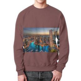 """Свитшот унисекс с полной запечаткой """"город """" - сымый любимый этот дизайн-сделано с любовью"""