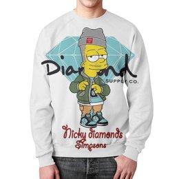 "Свитшот унисекс с полной запечаткой ""Simpson Diamond"" - мультики, simpsons, fox, diamons"