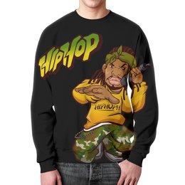 """Свитшот унисекс с полной запечаткой """"Hip Hop"""" - музыка, стиль, танцы, мода"""