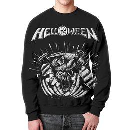 "Свитшот унисекс с полной запечаткой ""Helloween ( rock band )"" - heavy metal, helloween, рок музыка, хеви метал, rock music"