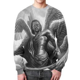 """Свитшот унисекс с полной запечаткой """"Archangel Lucifer"""" - религия, мифология, архангел, люцифер, преисподня"""