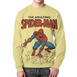 """Свитшот унисекс с полной запечаткой """"Человек-паук"""" - комиксы, супергерои, spider man, человек паук, spiderman"""