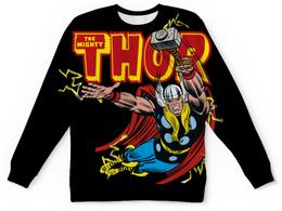 """Свитшот унисекс с полной запечаткой """"Тор (Thor)"""" - комиксы, марвел, тор"""