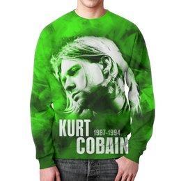 """Свитшот унисекс с полной запечаткой """"NIRVANA"""" - kurt cobain, курт кобейн, кумиры, звезды рока, нирвана"""