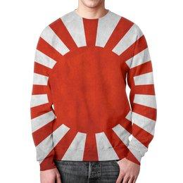 """Свитшот мужской с полной запечаткой """"Япония (Japan)"""" - солнце, япония, japan, японский флаг"""