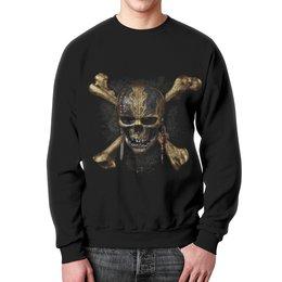 """Свитшот мужской с полной запечаткой """"Пираты Карибского моря"""" - череп, кости, кино, пират, пираты карибского моря"""