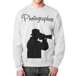 """Свитшот унисекс с полной запечаткой """"Фотограф"""" - фото, photo, фотограф, photographer"""