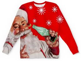 """Свитшот унисекс с полной запечаткой """"Новый Год"""" - новый год, дед мороз, санта, праздники"""