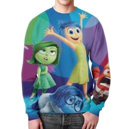 """Свитшот унисекс с полной запечаткой """"головоломка"""" - головоломка, pixar, inside out"""