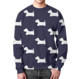 """Свитшот унисекс с полной запечаткой """"Собачки"""" - собаки, животные, щенки, пес, терьер"""