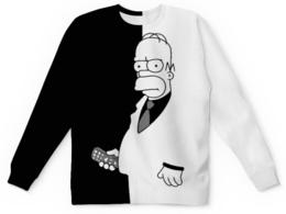 """Свитшот унисекс с полной запечаткой """"Гомер Симпсон"""" - симпсоны, гомер, мульт"""