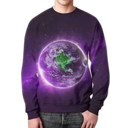 """Свитшот мужской с полной запечаткой """"Только космос!"""" - space, звезды, космос, наука, thespaceway"""