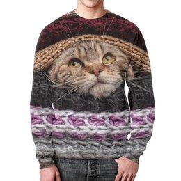 """Свитшот унисекс с полной запечаткой """"Котик"""" - кот, котенок, котик, шерсть, свитер"""