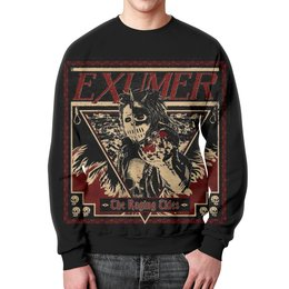 "Свитшот унисекс с полной запечаткой ""Exumer (thrash metal band)"" - рок группа, тяжёлый рок, thrash metal, треш метал, exumer"