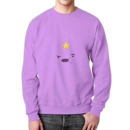 """Свитшот унисекс с полной запечаткой """"Adventure Time"""" - adventure time, время приключений, пупырка, lumpy"""