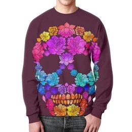 """Свитшот унисекс с полной запечаткой """"Skull Art"""" - skull, череп, цветы, черепа, skulls"""