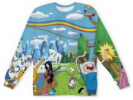 """Свитшот унисекс с полной запечаткой """"Время Приключений (Adventure Time)"""" - adventure time, время приключений, джейк, финн"""