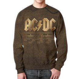 "Свитшот мужской с полной запечаткой ""AC/DC"" - music, rock, золото, асдс, автралия"
