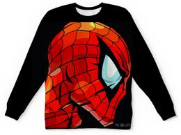 """Свитшот унисекс с полной запечаткой """"Спайдермен"""" - marvel, spider man, dccomics, спайдермен"""