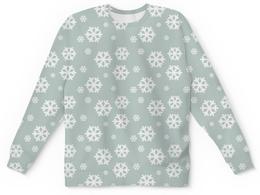 """Свитшот унисекс с полной запечаткой """"Снежинки"""" - новый год, зима, снег, снежинки"""