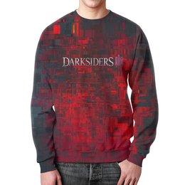 """Свитшот мужской с полной запечаткой """"Darksiders"""" - игры, компьютерные игры, надписи, darksiders, дарксайдерс"""