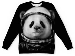 """Свитшот унисекс с полной запечаткой """"Панда Космонавт"""" - панда, космонавт"""